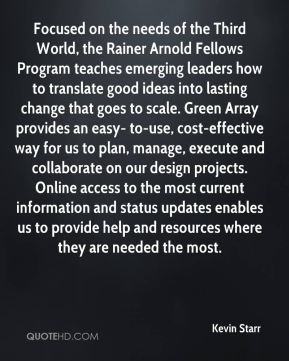 Focused on the needs of the Third World, the Rainer Arnold Fellows Program teaches emerging leaders how to translate good ideas into lasting change that goes to scale. Green Array provides an easy- to-use, cost-effective way for us to plan, manage, execute and collaborate on our design projects. Online access to the most current information and status updates enables us to provide help and resources where they are needed the most.