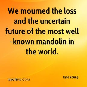 Kyle Young  - We mourned the loss and the uncertain future of the most well-known mandolin in the world.