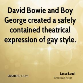 David Bowie and Boy George created a safely contained theatrical expression of gay style.