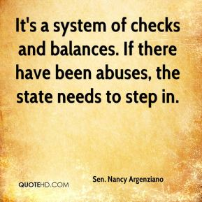 It's a system of checks and balances. If there have been abuses, the state needs to step in.