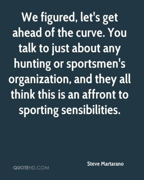 We figured, let's get ahead of the curve. You talk to just about any hunting or sportsmen's organization, and they all think this is an affront to sporting sensibilities.