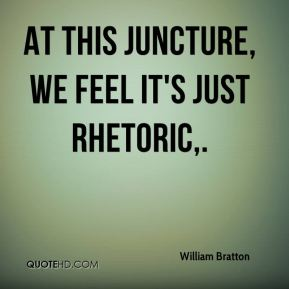 At this juncture, we feel it's just rhetoric.