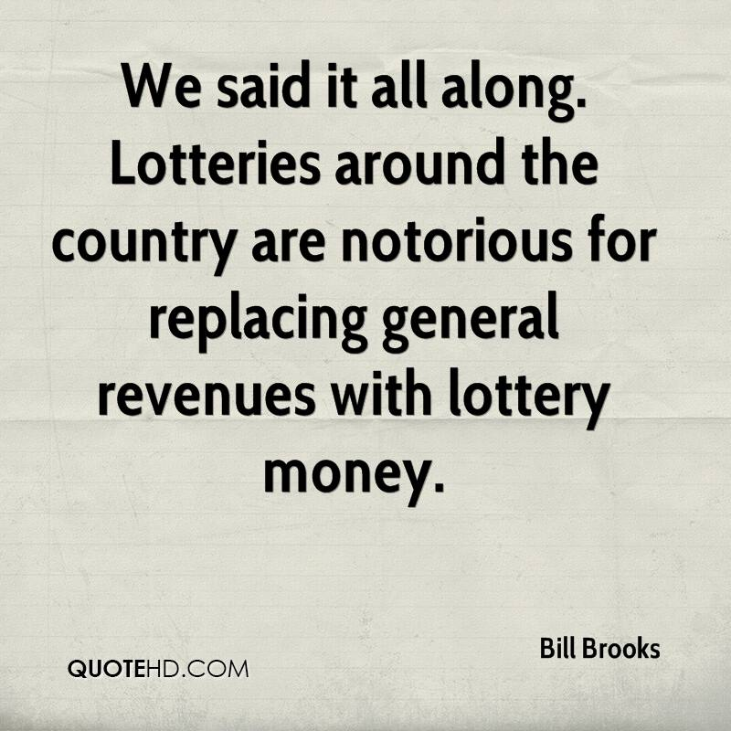 We said it all along. Lotteries around the country are notorious for replacing general revenues with lottery money.