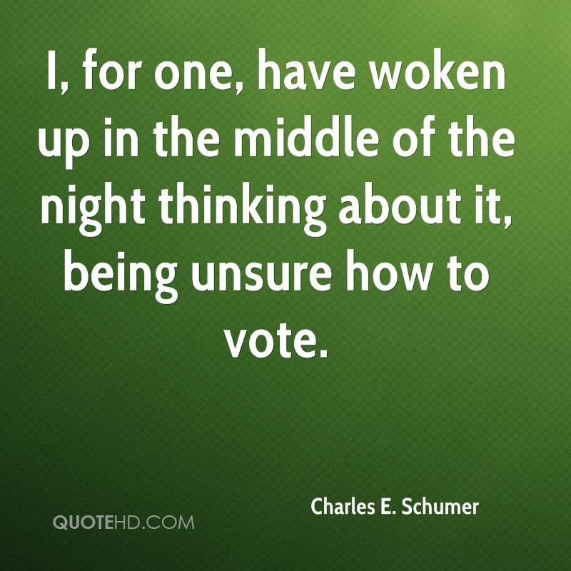 I, for one, have woken up in the middle of the night thinking about it, being unsure how to vote.