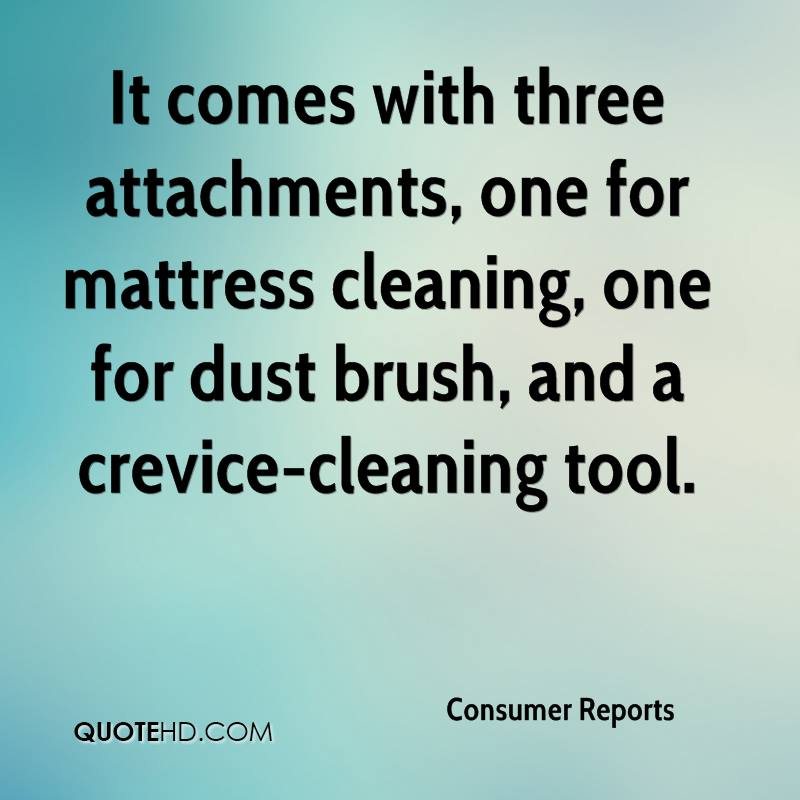 It comes with three attachments, one for mattress cleaning, one for dust brush, and a crevice-cleaning tool.