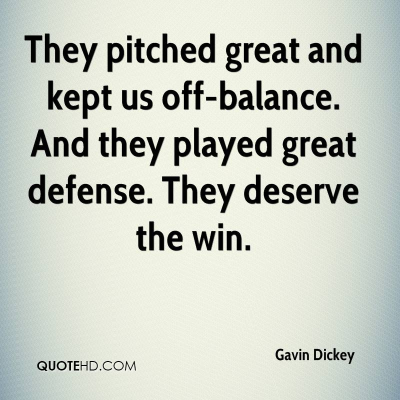 They pitched great and kept us off-balance. And they played great defense. They deserve the win.