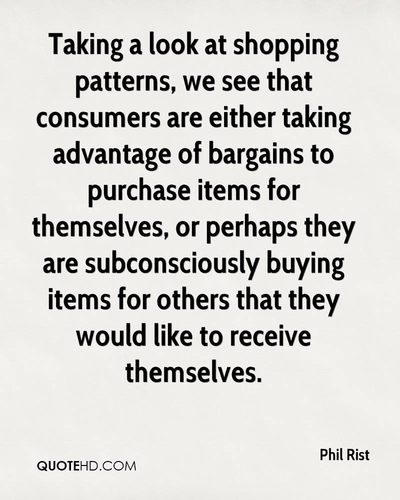 Taking a look at shopping patterns, we see that consumers are either taking advantage of bargains to purchase items for themselves, or perhaps they are subconsciously buying items for others that they would like to receive themselves.
