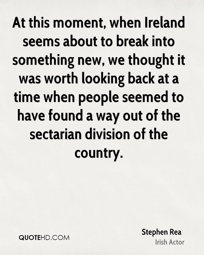 At this moment, when Ireland seems about to break into something new, we thought it was worth looking back at a time when people seemed to have found a way out of the sectarian division of the country.