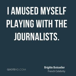 Brigitte Boisselier - I amused myself playing with the journalists.