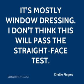 It's mostly window dressing. I don't think this will pass the straight-face test.