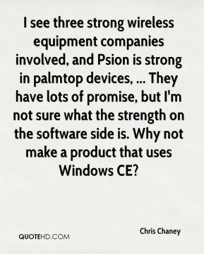 I see three strong wireless equipment companies involved, and Psion is strong in palmtop devices, ... They have lots of promise, but I'm not sure what the strength on the software side is. Why not make a product that uses Windows CE?