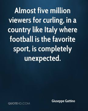 Giuseppe Gattino - Almost five million viewers for curling, in a country like Italy where football is the favorite sport, is completely unexpected.