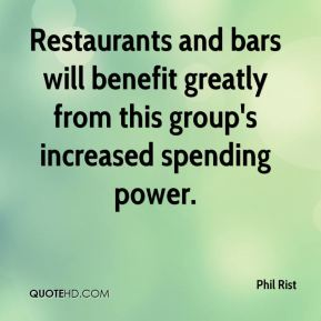 Restaurants and bars will benefit greatly from this group's increased spending power.