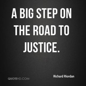 a big step on the road to justice.