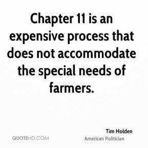 Chapter 11 is an expensive process that does not accommodate the special needs of farmers.