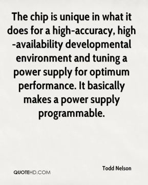 The chip is unique in what it does for a high-accuracy, high-availability developmental environment and tuning a power supply for optimum performance. It basically makes a power supply programmable.