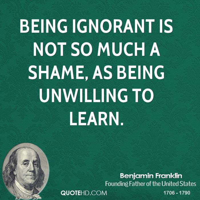 how to avoid being ignorant