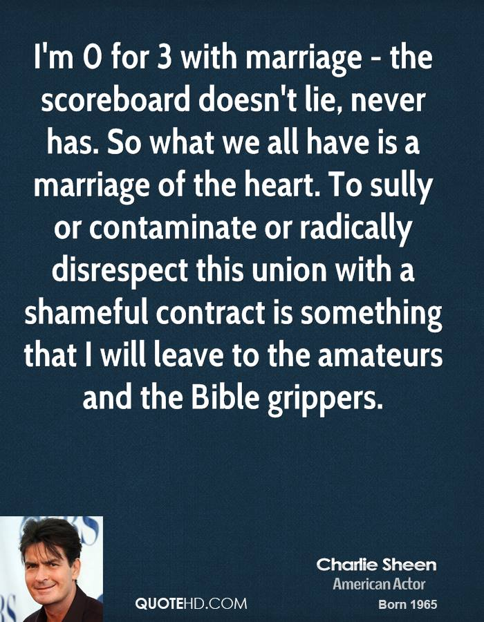 Charlie Sheen Marriage Quotes QuoteHD Interesting Sully Quotes
