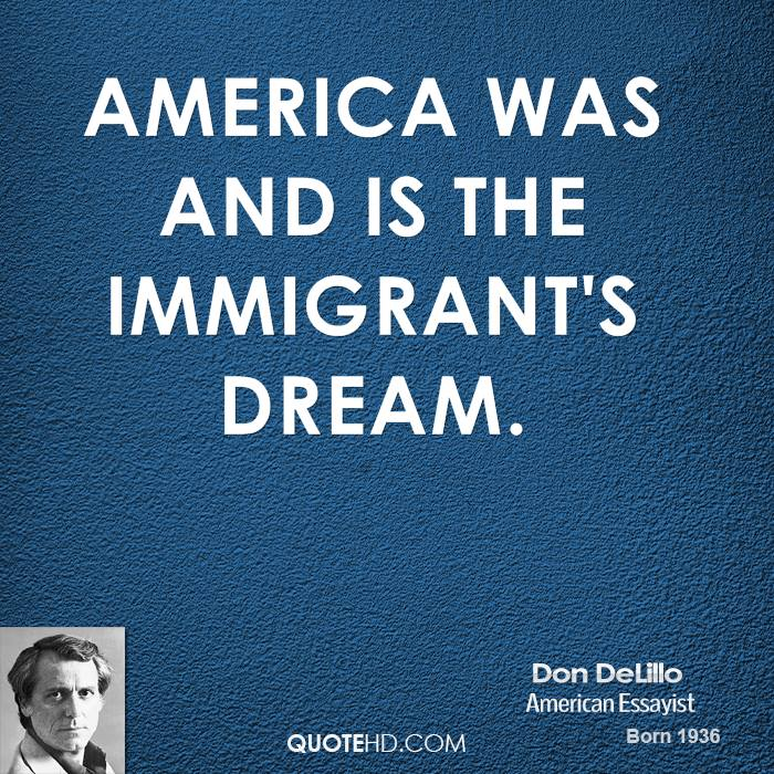 What is the immigrants american dream