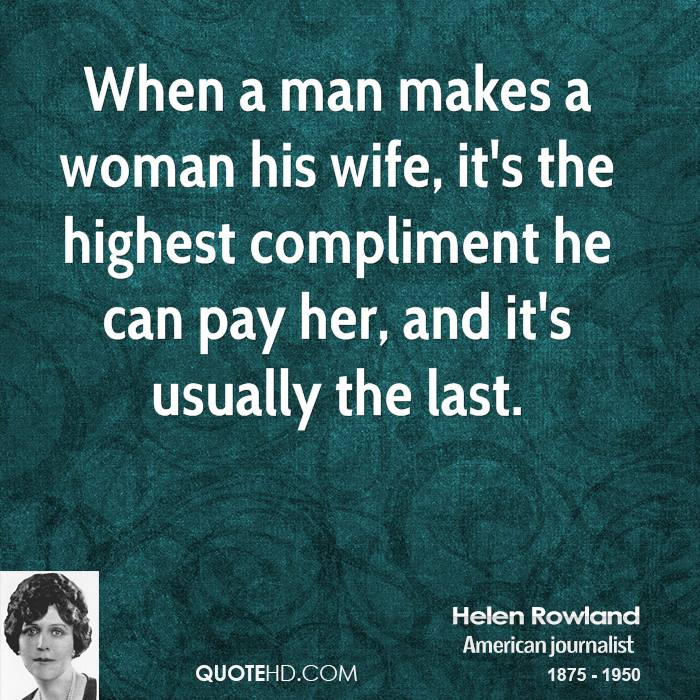 When a woman compliments a man