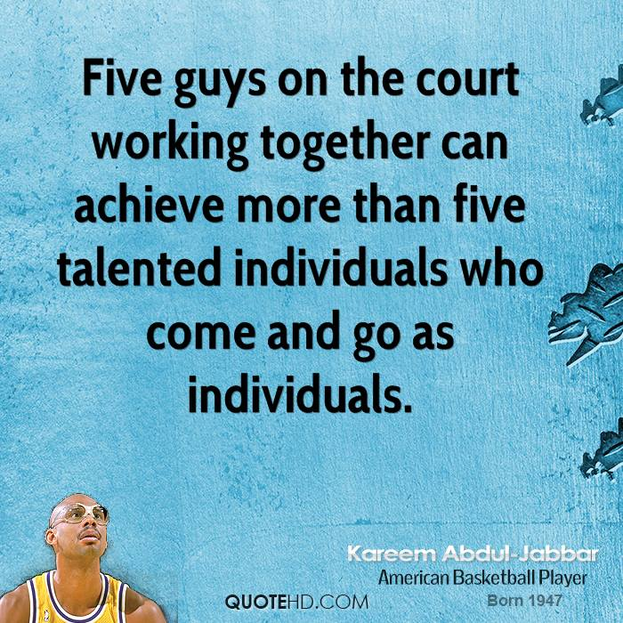 Quotes Together We Can Succeed: Kareem Abdul-Jabbar Quotes