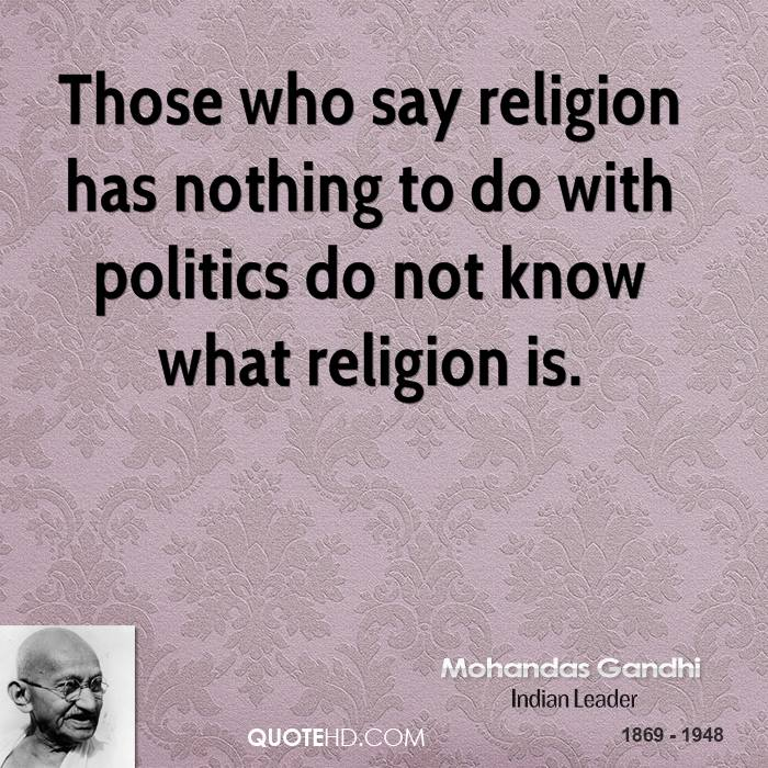 religon and politics The question of religion and politics is not the same as the question of church and state failure to make this distinction results in confusion.