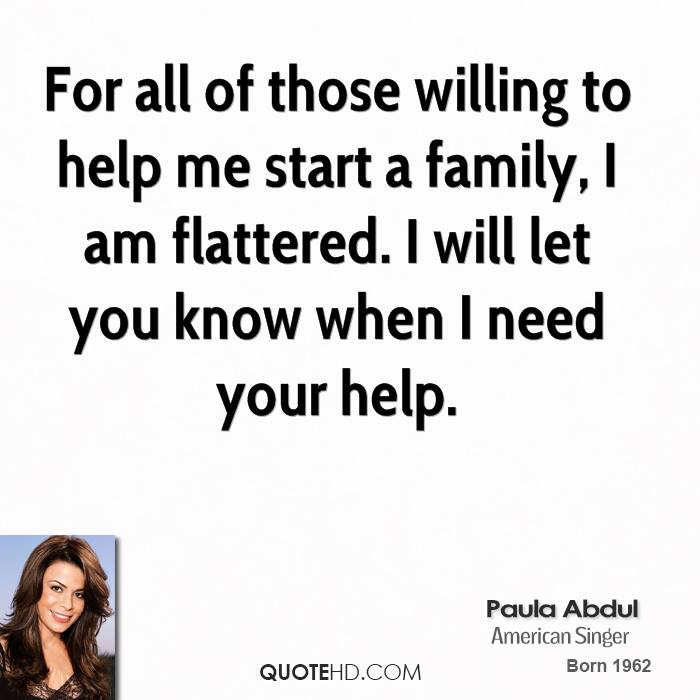 For all of those willing to help me start a family, I am flattered. I will let you know when I need your help.