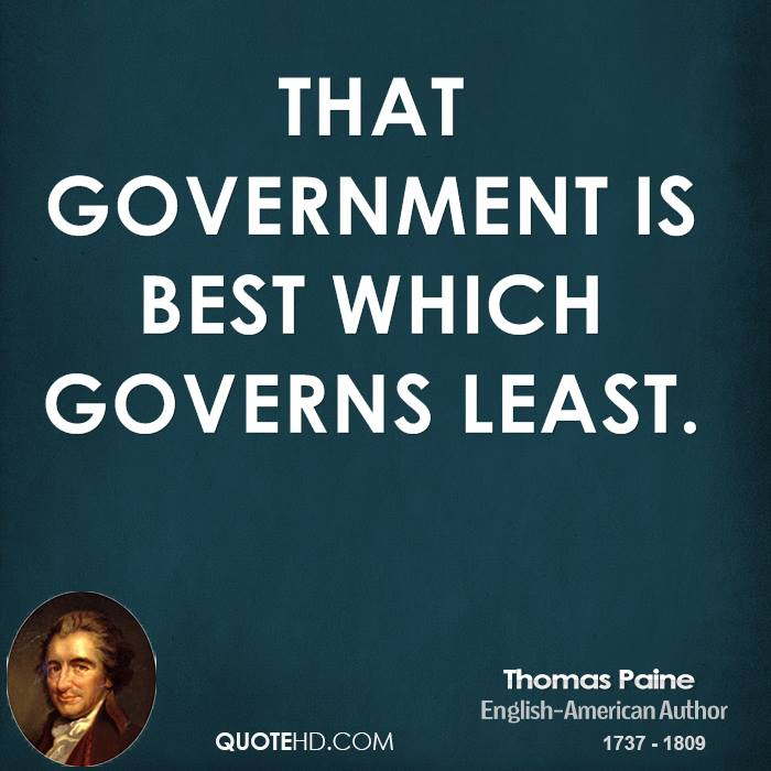 the government that governs best governs least essay