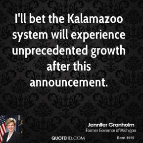 I'll bet the Kalamazoo system will experience unprecedented growth after this announcement.