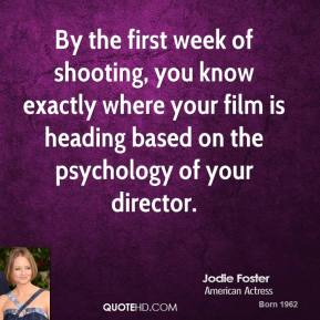 By the first week of shooting, you know exactly where your film is heading based on the psychology of your director.