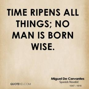Time ripens all things; no man is born wise.