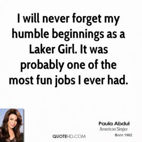 I will never forget my humble beginnings as a Laker Girl. It was probably one of the most fun jobs I ever had.
