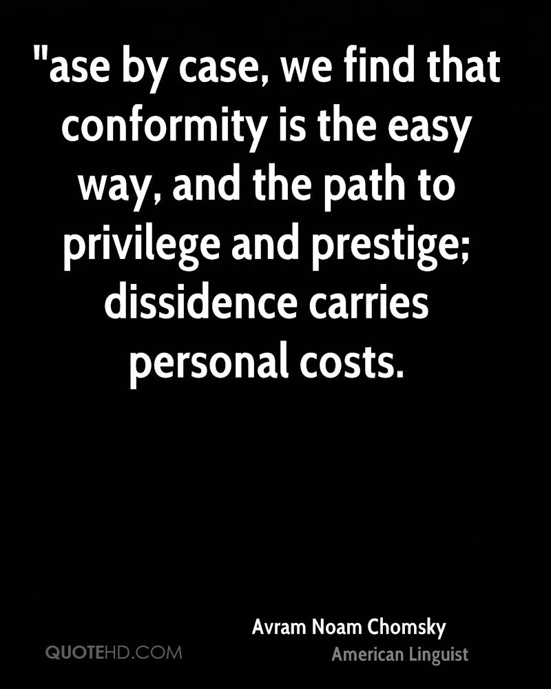 Quotes About Conformity Avram Noam Chomsky Quotes  Quotehd