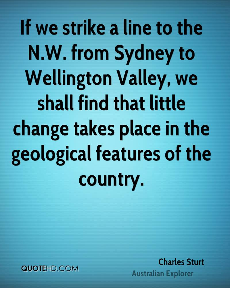 If we strike a line to the N.W. from Sydney to Wellington Valley, we shall find that little change takes place in the geological features of the country.