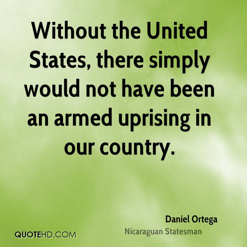 Without the United States, there simply would not have been an armed uprising in our country.
