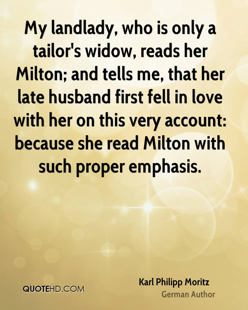My Landlady Who Is Only Aors Widow Reads Her Milton And Tells