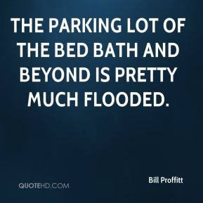 Bill Proffitt - The parking lot of the Bed Bath and Beyond is pretty much flooded.