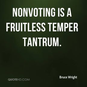 Nonvoting is a fruitless temper tantrum.