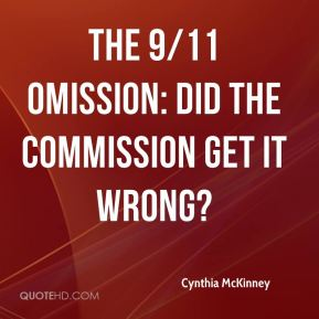 Cynthia McKinney - The 9/11 Omission: Did the Commission Get it Wrong?