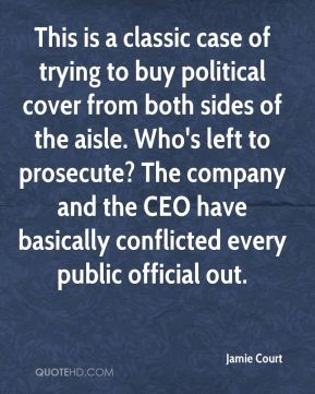 This is a classic case of trying to buy political cover from both sides of the aisle. Who's left to prosecute? The company and the CEO have basically conflicted every public official out.