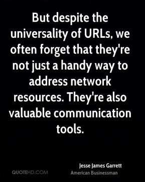 But despite the universality of URLs, we often forget that they're not just a handy way to address network resources. They're also valuable communication tools.