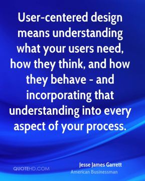 User-centered design means understanding what your users need, how they think, and how they behave - and incorporating that understanding into every aspect of your process.