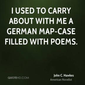 I used to carry about with me a German map-case filled with poems.
