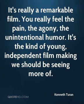 It's really a remarkable film. You really feel the pain, the agony, the unintentional humor. It's the kind of young, independent film making we should be seeing more of.