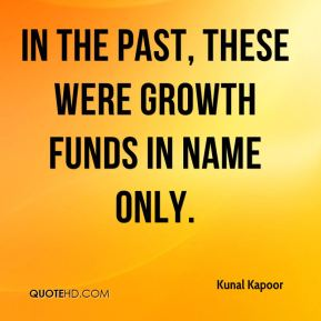 In the past, these were growth funds in name only.