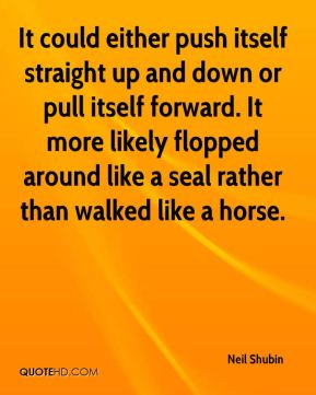 It could either push itself straight up and down or pull itself forward. It more likely flopped around like a seal rather than walked like a horse.