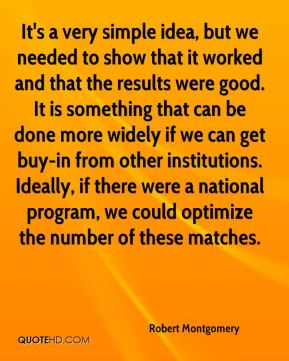 It's a very simple idea, but we needed to show that it worked and that the results were good. It is something that can be done more widely if we can get buy-in from other institutions. Ideally, if there were a national program, we could optimize the number of these matches.