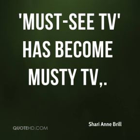 'Must-See TV' has become musty TV.