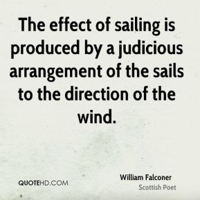 The effect of sailing is produced by a judicious arrangement of the sails to the direction of the wind.