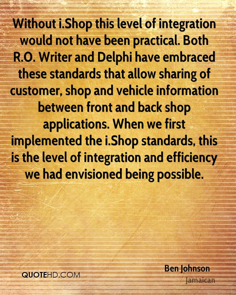 Without i.Shop this level of integration would not have been practical. Both R.O. Writer and Delphi have embraced these standards that allow sharing of customer, shop and vehicle information between front and back shop applications. When we first implemented the i.Shop standards, this is the level of integration and efficiency we had envisioned being possible.